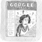 A Magazine Titled Google Magazine Art Print