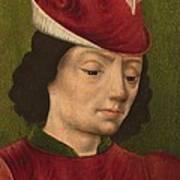 A Male Figure Perhaps Saint Sebastian A Art Print