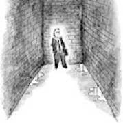 A Man Cornered In An Alleyway Speaks On His Cell Art Print