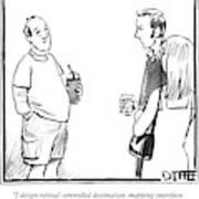 A Man Explains To A Couple Art Print