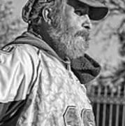 A Man With A Purpose Monochrome Art Print