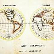A Map Of The World  Amy Baldwin Sc Art Print