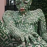 A Maze Ing Man 1 Art Print
