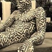 A Maze Ing Man 5 Sepia Art Print