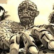 A Maze Ing Man 6 Sepia Art Print