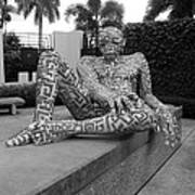 A Maze Ing Man Black And White Art Print