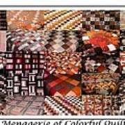 A Menagerie Of Colorful Quilts -  Autumn Colors - Quilter Art Print
