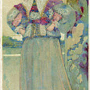 A Middle-class Lady In  Lacy Collar Art Print