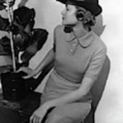 A Model Wearing A Knit Dress Art Print