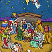 A Nativity Scene Art Print by Sarah Batalka