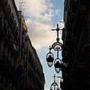 A Necklace Of Barcelona Streetlamps Art Print