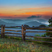 A New Beginning - Blue Ridge Parkway Sunrise I Art Print by Dan Carmichael