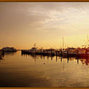 A New Day Beings On The Water - Atlantic Highlands  - Nj Art Print