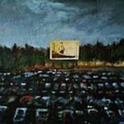 A Night At The Drive In Art Print