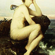 A Nymph By The Sea Art Print by Wilhelm Kray