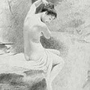 A Nymph Art Print by Charles Prosper Sainton