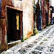 A Painting An Italian Street Art Print