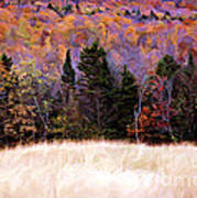 A Painting Autumn Field Art Print