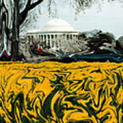 A Painting Jefferson Memorial Dali-style Art Print