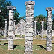 A Panoramic View Of Columns Surround Art Print