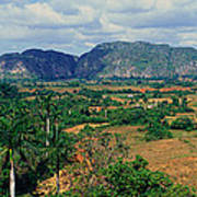 A Panoramic View Of The Valle De Art Print