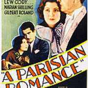 A Parisian Romance, Us Poster Art Art Print