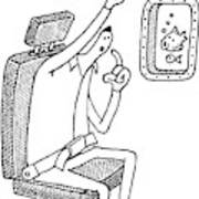 A Passenger On An Airplane Rings Art Print