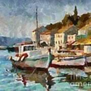 A Peaceful Harbour  Art Print