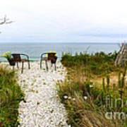 A Peaceful Respite By The Shore Art Print by Michelle Wiarda