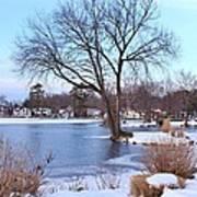 A Peaceful Winter Day Art Print