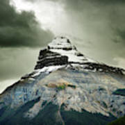 A Peak Of A Mountain Top In The Rocky Art Print