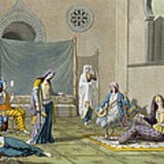 A Persian Harem, From Le Costume Ancien Art Print
