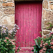 A Pink Door Art Print by Olivier Le Queinec