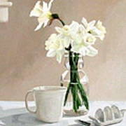 A Pint Of Daffodils Art Print by Sandra Chase