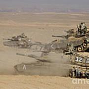 A Platoon Of Israel Defense Force Art Print