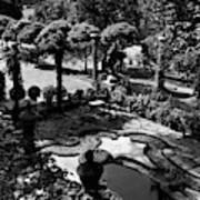 A Pond In An Ornamental Garden Art Print