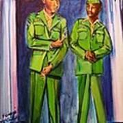 Daddy Soldier Art Print