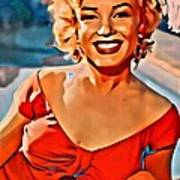 A Portrait Of Marilyn Art Print