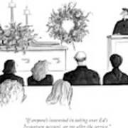 A Priest Makes A Eulogy Art Print