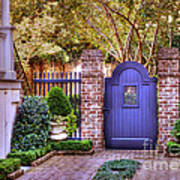 A Private Garden In Charleston Art Print