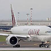 A Qatar Airways Cargo Boeing 777 Art Print