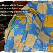 A Quilt With Daisies And Quote Art Print
