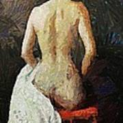 A Red Chair Art Print