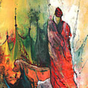 A Red Dog In Morocco Art Print