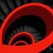A Red Spiral Art Print