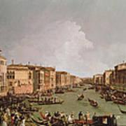 A Regatta On The Grand Canal Art Print