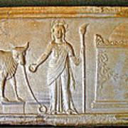 A Relief In Bergama Museum-turkey Art Print