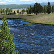 A River Runs Through Yellowstone Art Print