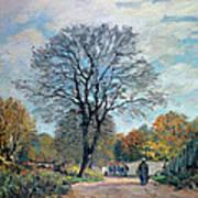A Road In Seine-et-marne, 1878 Art Print