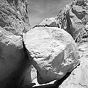 A Rock In A Hard Place. Art Print